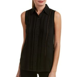 Cabi Black Jagger sleeveless blouse